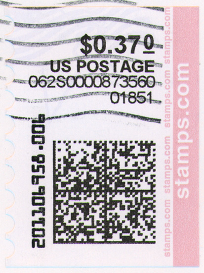 Example of a Printed NetStamp